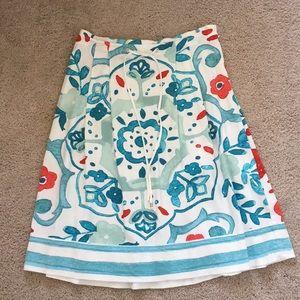Loft A-line watercolor skirt